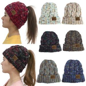 LOGO Şapkalar Elastik Hedging Kadınlar Kalınlaşmak Sıcak Skullies kasketleri Bayan Moda Örme Kadın Beanies Kış Şapka