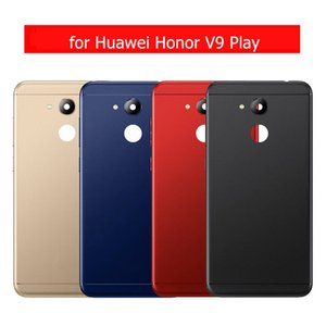 para Huawei Honor V9 Play Tapa trasera para batería para Huawei Honor V9 Play Carcasa trasera Metal Puerta trasera Botón lateral Reparación Repuestos