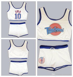 Space Jam Tune Squad Ladies Set Jersey Girls avec un short blanc LOLA Basketball Jersey Cousu XS S M L XL