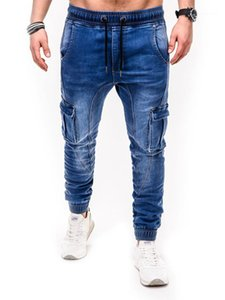 Multi Pocket Male Clothes 2020 Mens Designer Luxury Demin Jeans Casual Sport Long Pants Fashion Slim