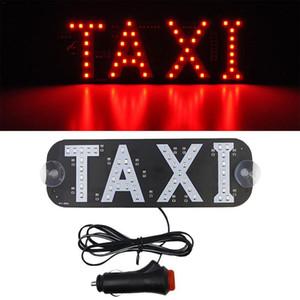 Entrar DC 12V LED Taxi Decor Car License Plate Glass LED Indicator Light Vehicle Luz de advertência piscando gancho no indicador de carro