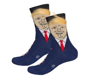 2019 yeni moda erkekler ve kadınlar pamuk çorap peruk altın saç komik nefes çorap kadın çorap