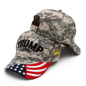 Cheap Hats 2020 hat Caps camo Keep Make America Great Embroidery Bone Curved Visor best donald trump donald sapka