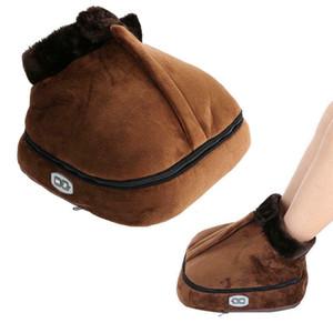 Vibrador masajeador de pies eléctrico calienta calentador climatizada Calientapiés Aprox. 50 ° Zapatilla de calor del pie zapatos de masaje caliente