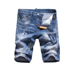 19ss Nuova famoso stilista Distressed mens jeans strappati Motociclista Jeans causali del denim del foro Pantaloni Streetwear Jeans Uomo q11