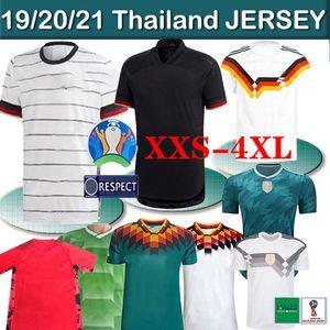 الرجعية ألمانيا لكرة القدم جيرسي ألمانيا 1990 1994 1988 هاملز كروس DRAXLER REUS MULLER GOTZE 20 21 لكرة القدم قميص زي الرجال الاطفال تايلاند