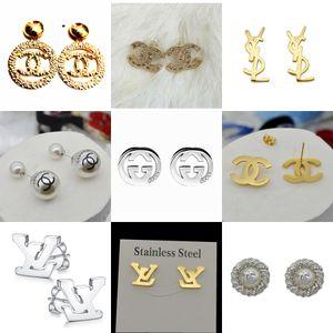 New Arrival famous Designer Earrings Brand jewelry gold plated stud Earrings for women luxury earring best Christmas gift