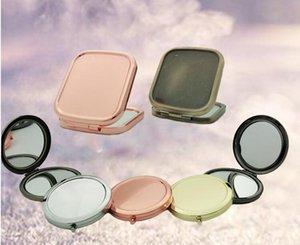 Pocket pliant Miroir carré pour Hommes Miroir cosmétique 70mm 2X ronde Miroirs Compact Pour Dame