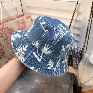Europe America NEW designer hats caps men classic fashion bucket hat men Denim linen material wild style Foldable two color mens women BB029