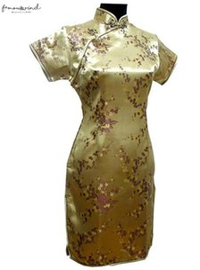 Black Traditional Chinese Dress Mujer Vestido Womens Satin Qipao Mini Cheongsam Flower Size S M L Xl Xxl Xxxl 4Xl 5Xl 6Xl