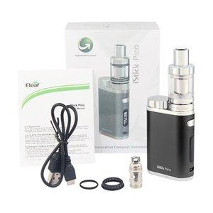 Newest 2ML réservoir Eleaf iStick Pico Kit 75W boîte Mod Vape Cigarette électronique ou Kingfish Top remplissage atomiseur P-BOX 50w e-cig