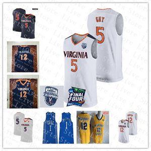 NCAA Virginia Cavalier Kyle Guy De'Andre Hunter 2019 Men Basketball чемпионы белые трикотажные изделия сшитые герцоги Уильямсон Мюррей государства