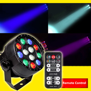 12W RGBW DMX512 LED PAR Light Sound Aktivierte Disco DJ LED Bühnenbeleuchtung für Hochzeit KTV Bar Projektorlampe