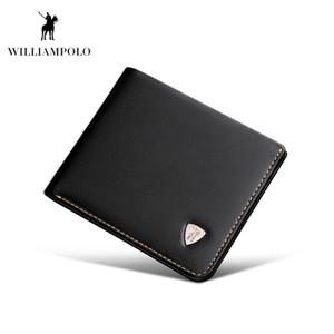 WILLIAMPOLO 2019 echtes Leder Kleine Portemonnaie Mini Wallet Men Purse Short Slim Design für Männer PL181366