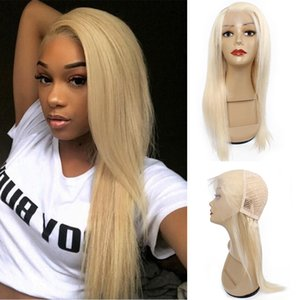KISSHAIR 4x13 lace frontal wig #613 blonde front lace wig Brazilian Indian Peruvian human hair wigs
