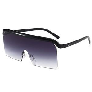 Новые роскошные женские мужские солнцезащитные очки металлические бескаркасные нерегулярные хрустальные режущие линзы мода роскошный стиль квадратная рамка УФ 400 объектив 5350