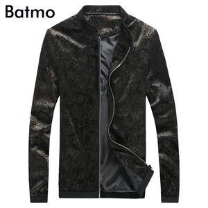 2020 new arrival high quality velvet fashion spring printed casual stand collar black jacket men .summer skinny men's jacket