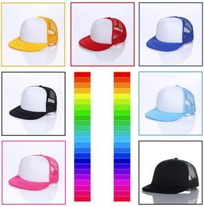Çocuklar Kamyon Şoförü Kap Örgü Kapaklar Yetişkin Boş Kamyon Şoförü kap Snapback kapaklar Ayarlanabilir kap Şapka Beyzbol Şapka müşterinin kendi logo Kabul