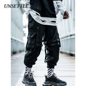 UNSETTLE 2020 Primavera/Verano Hip Hop Joggers hombres/mujeres negro Harem pantalones Multi-Bolsillo pantalones de chándal Streetwear Casual pantalones para hombre T200415