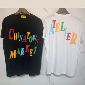 marée de la rue européenne et américaine CHINATOWN MARKET série design T-shirt à manches courtes impression mousse en trois dimensions T US 2020