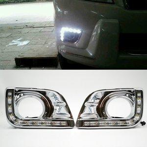 Toyota Prado FJ150 LC150 2010 2011 2013 Sis Far kapak için 1 Çifti Land Cruiser 2700 Otomobil için LED DRL Gündüz Işıklar