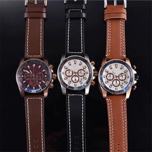 많은 사람들 U1 공장 도매 시계 42mm 군사 스포츠 스타일의 럭셔리 패션 디자이너 블랙 다이얼 독특한 가죽 남성 손목 시계 시계