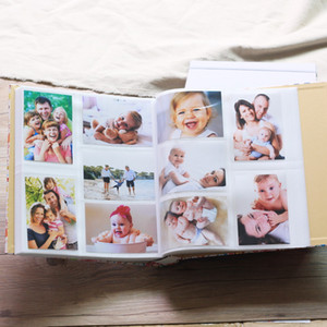 700 Pockets 5 inch Premium-Leather Grain Frame Cover Large Family Wedding Anniversary Baby Growth Memorial Vacation Love Photo