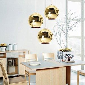 Coquimbo Globe Pendelleuchten Kupfer-Glas-Spiegel-Ball Pendelleuchte Küche Moderne Beleuchtung Hängeleuchte