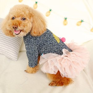 New Fashion Pet Cherry Skirt Autumn And Winter Comfortable Cat Dog Clothing