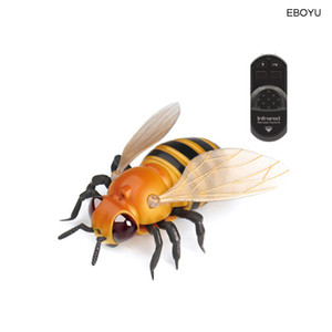EBOYU Kızılötesi RC Arı Çocuklar Kızılötesi Işın Uzaktan Kumanda Arılar Gerçekçi Sahte arı Hayvan Oyuncak Komik RC Prank Joke Korkunç Trick Oyuncaklar