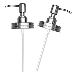 DIY Hand Soap Dispenser pump Stainless Steel Mason Jar Countertop Soap Lotion Dispenser polish chrome ORB golden