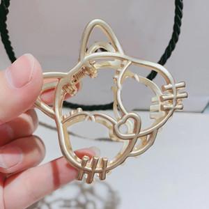 6x5cm mode Yagine mignon collier griffe tête de chat C lettre épingle à cheveux pour le cadeau de collection design de luxe dames cheveux pince bijoux accessoires