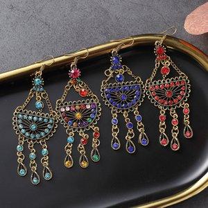 Creative retro earrings temperament earrings semicircular long pendant earrings female hot sale tassel ear jewelry