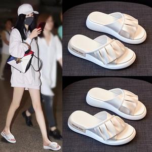 Kadınlar Bow Yaz Sandalet Terlik Kapalı Açık Ayaklı-flop Plaj Ayakkabı Yeni Moda Bayan Casual çiçek Terlik chanclas 001