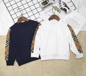 Meninos Meninas Moletons Primavera Outono tag Marca Tops Bebê Crianças Camisola de Manga Longa Camisa Da Menina do Menino Roupa Dos Miúdos Novo