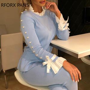 Empiècements en dentelle bowknot boutonné de Bell Cuff Chemisier femmes Tops