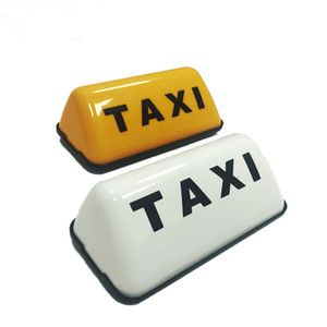 Señal 12V COB Luz Universal Amarilla base del coche de la lámpara de alta calidad Nueva Moda Taxi MUESTRA DEL Cab Roof Top Topper Adhesivo lámpara del coche