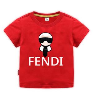 Ropa para niños de 2-7 años de la camiseta de los niños alrededor del cuello de manga corta niños y niñas camiseta de color sólido de la camisa de POLO camiseta de algodón