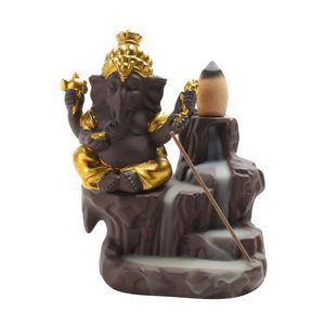 لوتس الهند غانيشا الفيل الله البوذية بوذا ارتجاعي مبخرة مبخرة عصا حامل دي إتش إل الحرة الشحن