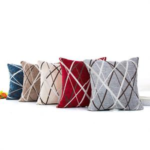 Чехол для подушки синели с радиальной полосой наволочки спандекс серый синий красный белый наволочка горячая распродажа 5 5xa L1