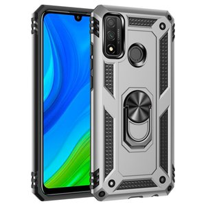 Aristocratic Solid Ultra-Thin Ring Loop Hard PC Back Cover Popular Colorful Protective Sticker Case For Huawei Nova 5T   Honor 20
