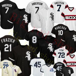 7 Tim Anderson Jersey 10 Yoan Moncada 8 Bo Jackson 45 Michael 79 Jose Abreu 35 Frank Baseball 유니폼