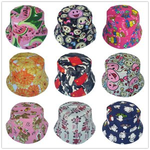 Bnaturalwell New Cute Kids Girls Summer Cotton Bucket Hats Cap Sun Beach Beanie hat Lovely Summer Casual Fishing cap 1pc H391