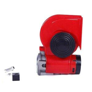 HW-1200A 자동차 달팽이 경적 레드 12V 공기 펌프 달팽이 경적 자동차 오토바이 전기 높은베이스