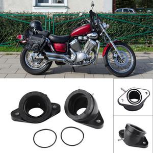 Livraison gratuite moto Adaptateurs de carburateur Adaptateurs d'interface d'admission de carburateur pour Yamaha XV400 XV500 XV535 Motocicleta Accessoires