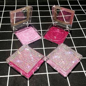 3D pestañas falsas pestañas de visón Cajas cajas de embalaje vacío Lash caso de Bling del brillo de pestañas caja sin pestañas
