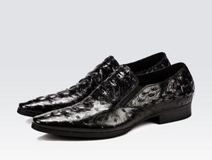 Zapatos en relieve de cuero negro para hombres y hombres Goodyear Oxfords Zapatos de vestir de boda para hombres Zapatos oxfords de fiesta