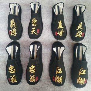 Cinese Tradizionale Stile Maschio Casual Shoes ricamo di stoffa a mano scarpe da uomo fannulloni respirabili degli appartamenti degli uomini Scarpe