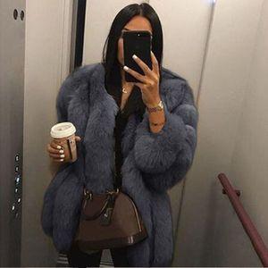 casaco de pele linda mulher imitação menina manga longa quente novo inverno feminina plus size 3XL 4XL casaco de pele de raposa