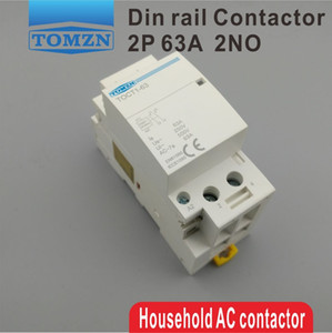 Поставки электрооборудования контакторы TOCT1 2P 63A 220V / 230V 50/60 Гц Din-рейка бытовой модульный контактор переменного тока 2NO или 2NC или 1NO 1NC